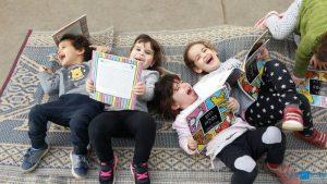 """יום מסיבת פיג'מה במעון ויצו ארלוזרוב בת""""א. פעם בשבוע כל הילדים מגיעים לבושים בפיג'מה ליום בנושא הספר"""