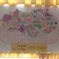בפינת ספריית פיג'מה מציגים את סל הקניות של יו יו (מעון ויצו הגבעה הצרפתית, ירושלים)