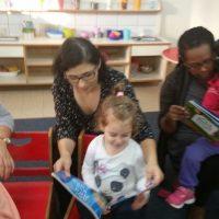 פעילות פתיחת שנה משותפת להורים וילדים בעקבות הספר איפה מתחבא הצחוק, מעון ויצו פאר חדרה