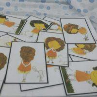 קלפים למשחק פנטומימה- הילד מקבל קלף ובפנטומימה עליו להסביר לילדים האחרים באיזה איבר מדובר. מעון פעמונים כפר הראה