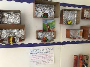 בעקבות הסיפור אני אוהב לחפש, הילדים במעון נעמת רימון במודיעין יצרו בחומרים את מה שהם מחפשים