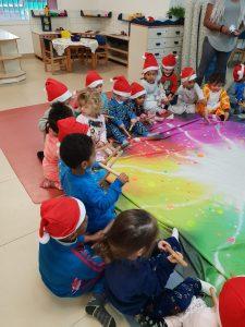 מסיבת פיגמה במעון בית פרידה נעמת רמלה והפעלת הילדים בתנועה ובמוזיקה
