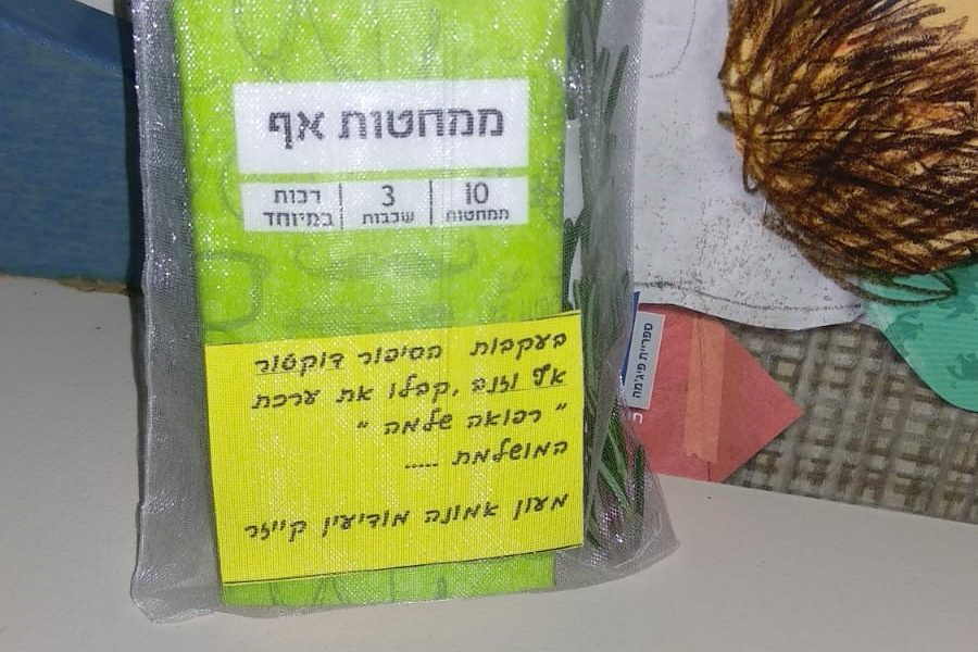 במעון אמונה קייזר מודיעין  חילקו ממחטות, תיונים וצמחי תה בעקבות הספר