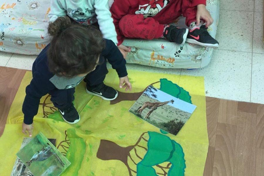לומדים על חיות שונות בעקבות הספר - מעון נעמת פריבס ב